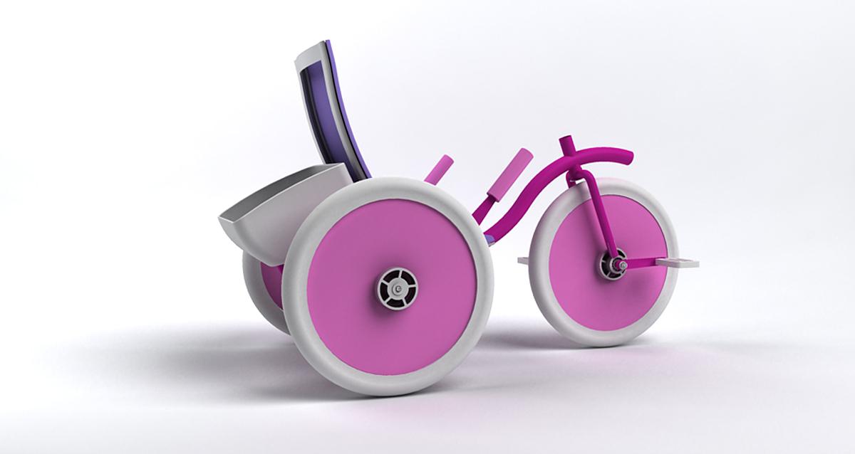 Selegna Design diseño producto triciclo universal 2