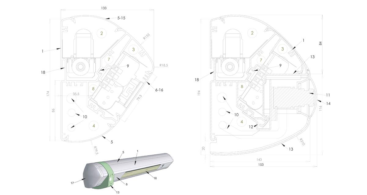 Selegna Design diseño producto cabecero hospitalario Avant 4