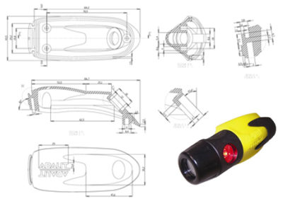 Desarrollo 3D Linterna Bomberos Adalit