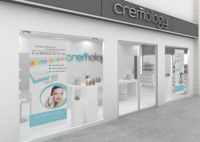Infografia Fachada Cremology Store