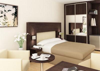 Infografia Habitación Hotel 2. Grupo BUK
