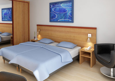 Infografia Habitación Hotel. Grupo BUK