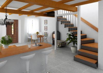 Infografia Salón Escaleras Casa Niembro. Jose Juan Rodríguez Herranz