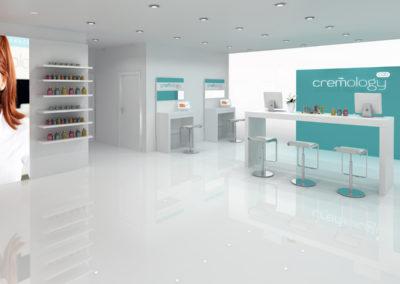 Infografia interior Cremology Store