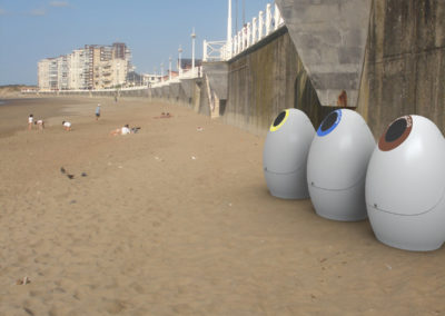 Infografia Papelera integración playa. Maria Fernández