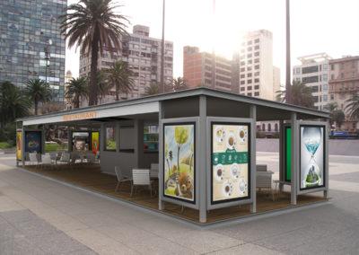 Infografia Terraza Restaurante. Olprim