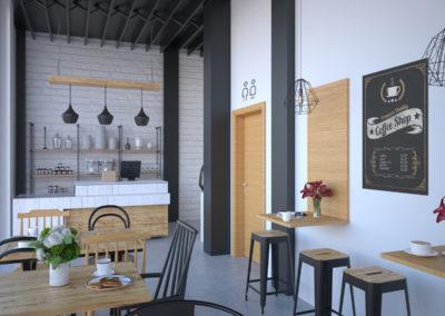 Selegna Design Infografia interior cafeteria